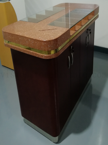 Wooden bank operation counter table